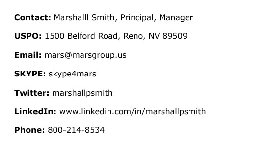 MARS GROUP US CONTACT INFO